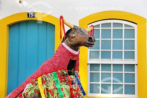 Detalhe de brincante de boi durante a Festa do Divino  - Paraty - Rio de Janeiro (RJ) - Brasil