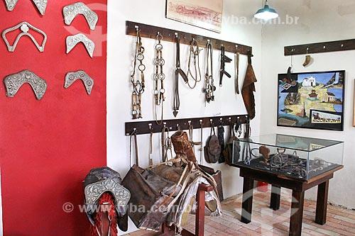 Parte do acervo permanente em exibição no Museu dos Tropeiros na Casa Vermelha  - Lapa - Paraná (PR) - Brasil