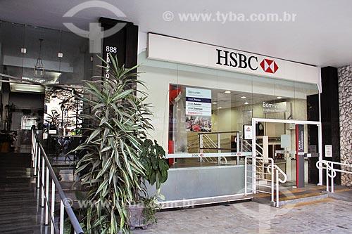 Fachada de agência bancária do HSBC na Rua do Imperador  - Petrópolis - Rio de Janeiro (RJ) - Brasil