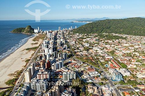 Foto aérea da Praia Brava  - Matinhos - Paraná (PR) - Brasil