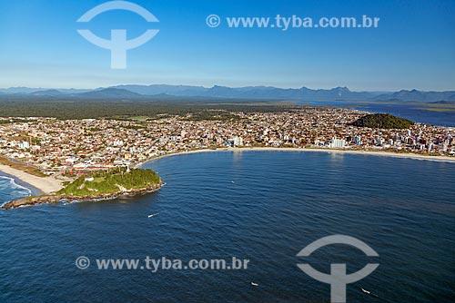 Foto aérea da Praia de Guaratuba  - Guaratuba - Paraná (PR) - Brasil