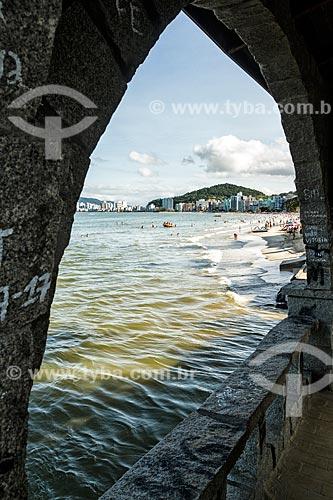 Vista da orla de Itapema a partir da Ponte dos Suspiros na Praia Central  - Itapema - Santa Catarina (SC) - Brasil
