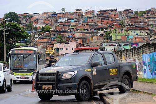 Patrulhamento da Força Nacional de Segurança Pública no bairro da Vila Kennedy durante a Intervenção Federal no Estado do Rio de Janeiro  - Rio de Janeiro - Rio de Janeiro (RJ) - Brasil