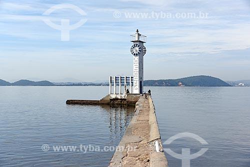 Farol-Relógio da Mesbla - réplica do relógio do edifício Mesbla - na Praia das Gaivotas  - Rio de Janeiro - Rio de Janeiro (RJ) - Brasil