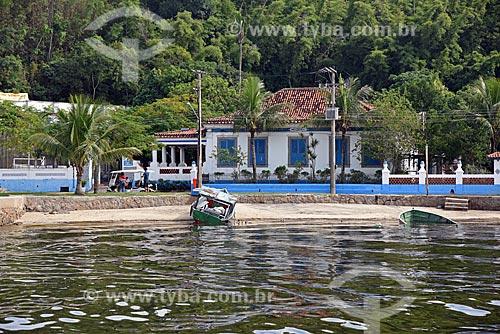 Vista da orla da Praia das Gaivotas - também conhecida como Praia da Ribeira - na Ilha de Paquetá  - Rio de Janeiro - Rio de Janeiro (RJ) - Brasil
