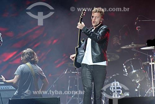 Banda Scalene durante show no Palco Mundo - Rock in Rio 2017 no Parque Olímpico Rio 2016  - Rio de Janeiro - Rio de Janeiro (RJ) - Brasil