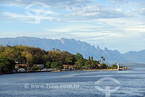 Vista da Ilha de Paquetá com o Parque Nacional da Serra dos Órgãos ao fundo  - Rio de Janeiro - Rio de Janeiro (RJ) - Brasil