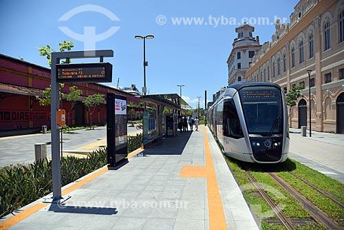 Estação Utopia-Aquario do Veículo leve sobre trilhos do Rio de Janeiro na Orla Prefeito Luiz Paulo Conde  - Rio de Janeiro - Rio de Janeiro (RJ) - Brasil