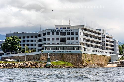 Vista da Escola Naval a partir da Baía de Guanabara  - Rio de Janeiro - Rio de Janeiro (RJ) - Brasil