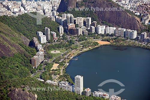Foto aérea do Parque do Cantagalo  - Rio de Janeiro - Rio de Janeiro (RJ) - Brasil