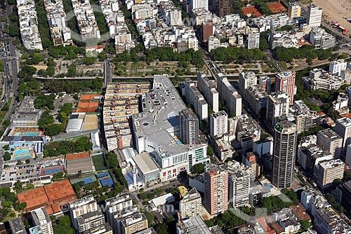 Foto aérea do Shopping Leblon com o canal do Jardim de Alah ao fundo  - Rio de Janeiro - Rio de Janeiro (RJ) - Brasil