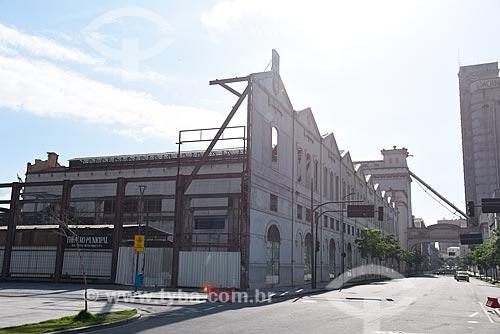 Fachada lateral do prédio do Projeto Fábrica de Espetáculos II do Theatro Municipal do Rio de Janeiro  - Rio de Janeiro - Rio de Janeiro (RJ) - Brasil