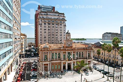 Vista de cima do Paço Municipal de Porto Alegre (1901)  - Porto Alegre - Rio Grande do Sul (RS) - Brasil