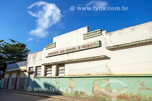 Fachada da antiga Cooperativa dos produtores de Leite  - Guarani - Minas Gerais (MG) - Brasil
