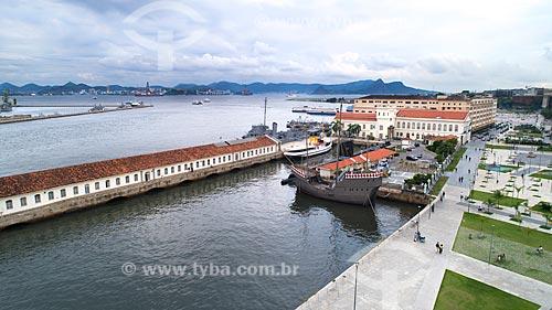 Foto feita com drone da Nau dos Descobrimentos no Espaço Cultural da Marinha  - Rio de Janeiro - Rio de Janeiro (RJ) - Brasil