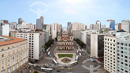 Foto feita com drone da Igreja de Nossa Senhora da Candelária (1609)  - Rio de Janeiro - Rio de Janeiro (RJ) - Brasil