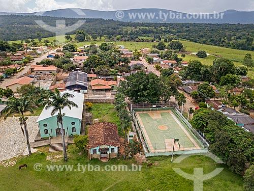 Foto feita com drone do distrito de Caxambú com a Igreja do Divino Pai Eterno  - Pirenópolis - Goiás (GO) - Brasil