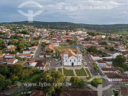 Foto feita com drone da Igreja Matriz de Nossa Senhora do Rosário (1761)  - Pirenópolis - Goiás (GO) - Brasil