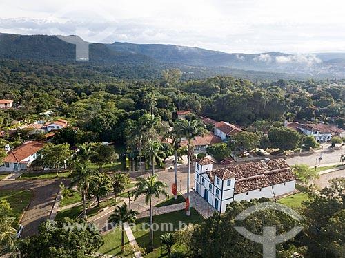 Foto feita com drone da Igreja de Nosso Senhor do Bonfim (1754)  - Pirenópolis - Goiás (GO) - Brasil