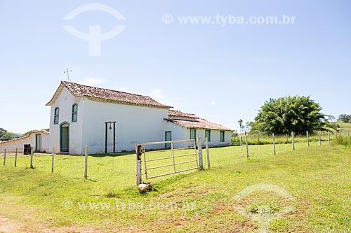 Fachada lateral da Capela de São João Batista (1761)  - Goiás - Goiás (GO) - Brasil