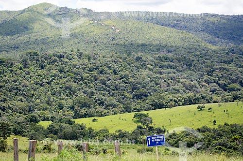 Vista da Reserva Biológica Professor José Ángelo Rizzo - administrada pela Universidade Federal de Goiás  - Mossâmedes - Goiás (GO) - Brasil