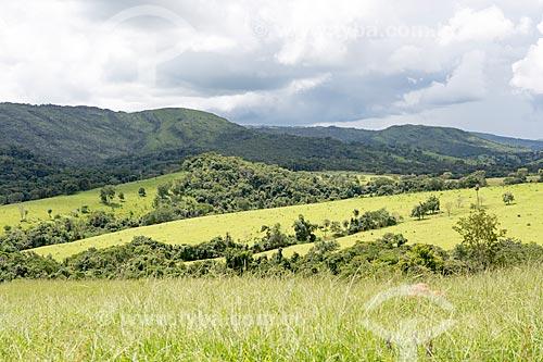 Vista da Reserva Biológica Professor José Ángelo Rizzo - parte do Parque Estadual da Serra Dourada  - Mossâmedes - Goiás (GO) - Brasil