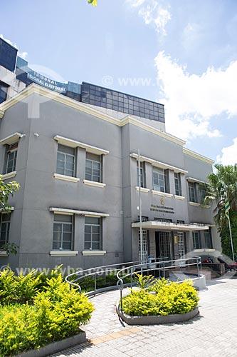 Fachada do Edifício Desembargador Geraldo Bonfim de Freitas (1940) - sede do Tribunal Regional Eleitoral do Estado de Goiás  - Goiânia - Goiás (GO) - Brasil