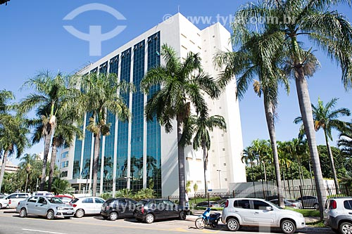 Palácio Pedro Ludovico Teixeira - sede administrativa da Secretaria de Fazenda - na Praça Doutor Pedro Ludovico Teixeira - também conhecido como Praça Cívica  - Goiânia - Goiás (GO) - Brasil
