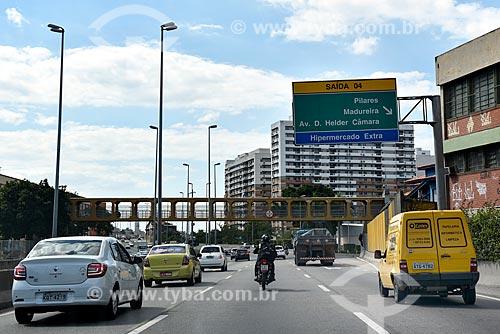 Tráfego na Linha Amarela próximo à saída 04 - sentido Avenida Brasil  - Rio de Janeiro - Rio de Janeiro (RJ) - Brasil