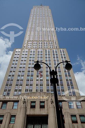Fachada do Empire State Building (1931)  - Cidade de Nova Iorque - Nova Iorque - Estados Unidos