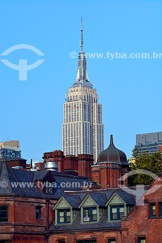 Vista de prédios na cidade de Nova Iorque com o Empire State Building ao fundo  - Cidade de Nova Iorque - Nova Iorque - Estados Unidos