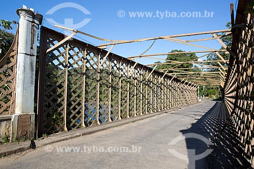 Ponte de Ferro Alberto Torres (1860) - encomendada pela União Indústria à companhia inglesa E. T. Bellhouse & Co Manchester  - Areal - Rio de Janeiro (RJ) - Brasil