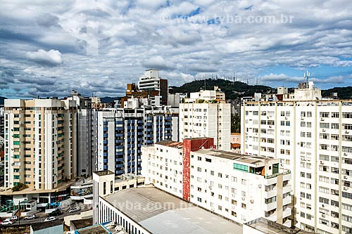 Vista de prédios do centro de Florianópolis  - Florianópolis - Santa Catarina (SC) - Brasil