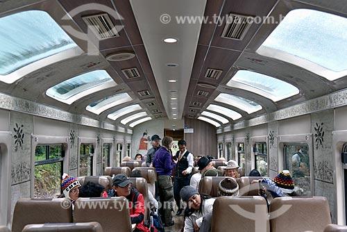 Interior do trem da Perurail - que faz o passeio turístico entre as cidades de Cusco e Machu Picchu pueblo  - Cusco - Departamento de Cusco - Peru