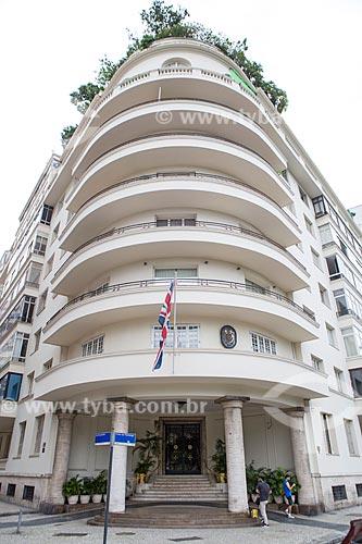 Fachada do Edifício Tucuman (1941) na Avenida Praia do Flamengo  - Rio de Janeiro - Rio de Janeiro (RJ) - Brasil