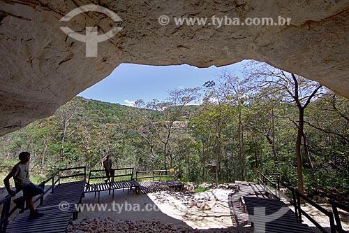 Mirante no Sítio Arqueológico Toca da Entrada do Pajaú no Parque Nacional Serra da Capivara  - São Raimundo Nonato - Piauí (PI) - Brasil