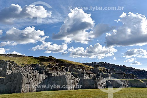 Ruínas no Parque Arqueológico de Sacsahuamán  - Cusco - Departamento de Cusco - Peru
