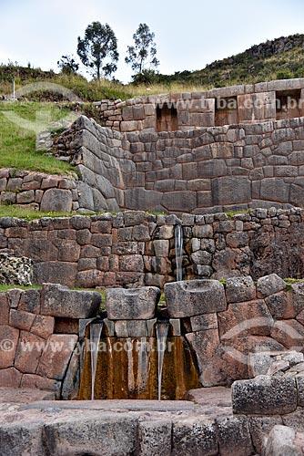 Ruínas no El Baño del Inca (O Banho Inca) também conhecido como Parque Arqueológico de Tambomachay  - Cusco - Departamento de Cusco - Peru