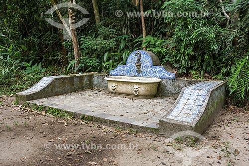 Fonte na Floresta da Tijuca próximo à Cascatinha Taunay  - Rio de Janeiro - Rio de Janeiro (RJ) - Brasil