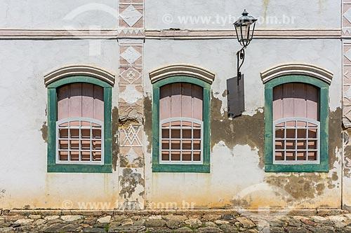 Fachada de casarios no centro histórico da cidade de Paraty  - Paraty - Rio de Janeiro (RJ) - Brasil