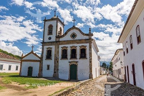Fachada da Igreja de Santa Rita de Cássia (1722)  - Paraty - Rio de Janeiro (RJ) - Brasil