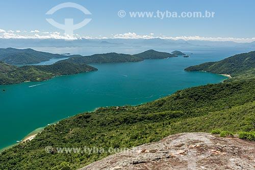 Vista do Saco do Mamanguá a partir do Pico do Pão de Açúcar - também conhecido como Pico do Mamanguá  - Paraty - Rio de Janeiro (RJ) - Brasil