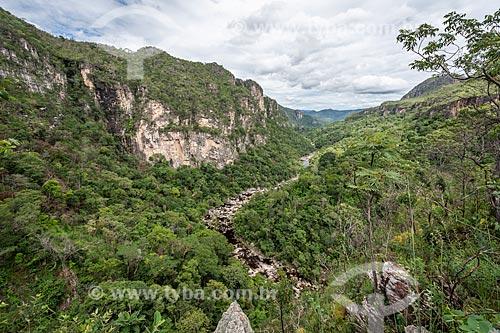 Vista geral do Rio Preto no Parque Nacional da Chapada dos Veadeiros  - Alto Paraíso de Goiás - Goiás (GO) - Brasil