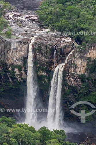 Vista da Cachoeira do Salto (120m) no Parque Nacional da Chapada dos Veadeiros  - Alto Paraíso de Goiás - Goiás (GO) - Brasil