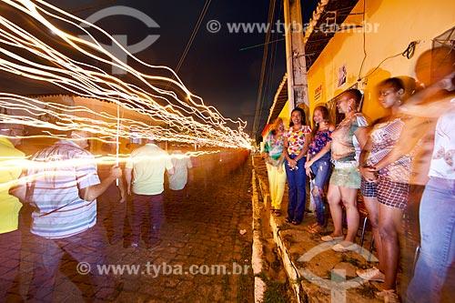 Procissão do Fogaréu durante a Semana Santa na cidade de Oeiras  - Oeiras - Piauí (PI) - Brasil