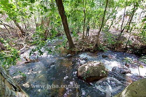 Trecho do Rio Água Quente no Parque Nacional das Nascentes do Rio Parnaíba  - Barreiras do Piauí - Piauí (PI) - Brasil