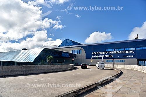 Fachada do Aeroporto Internacional Salgado Filho (1940)  - Porto Alegre - Rio Grande do Sul (RS) - Brasil
