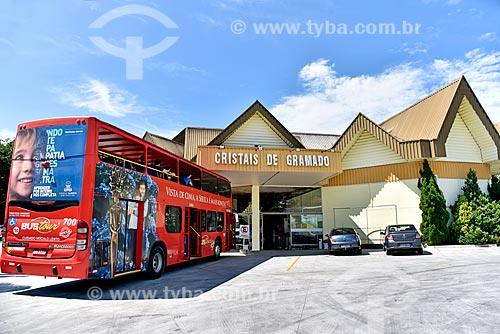 Fachada da fábrica Cristais de Gramado  - Gramado - Rio Grande do Sul (RS) - Brasil