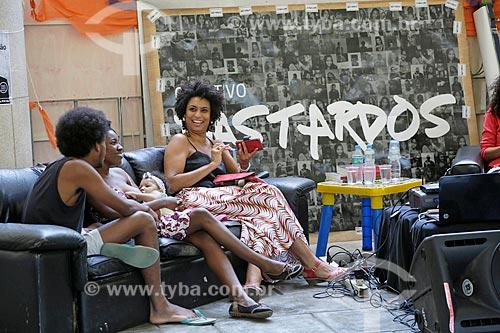 Detalhe da vereadora Marielle Franco no evento do coletivo Bastardo da Pontifícia Universidade Católica  - Rio de Janeiro - Rio de Janeiro (RJ) - Brasil