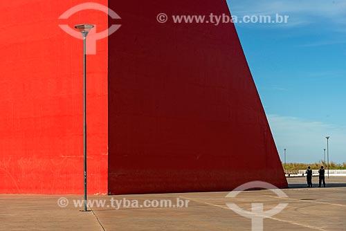 Detalhe do Monumento aos Direitos Humanos (2006) - parte do Centro Cultural Oscar Niemeyer  - Goiânia - Goiás (GO) - Brasil